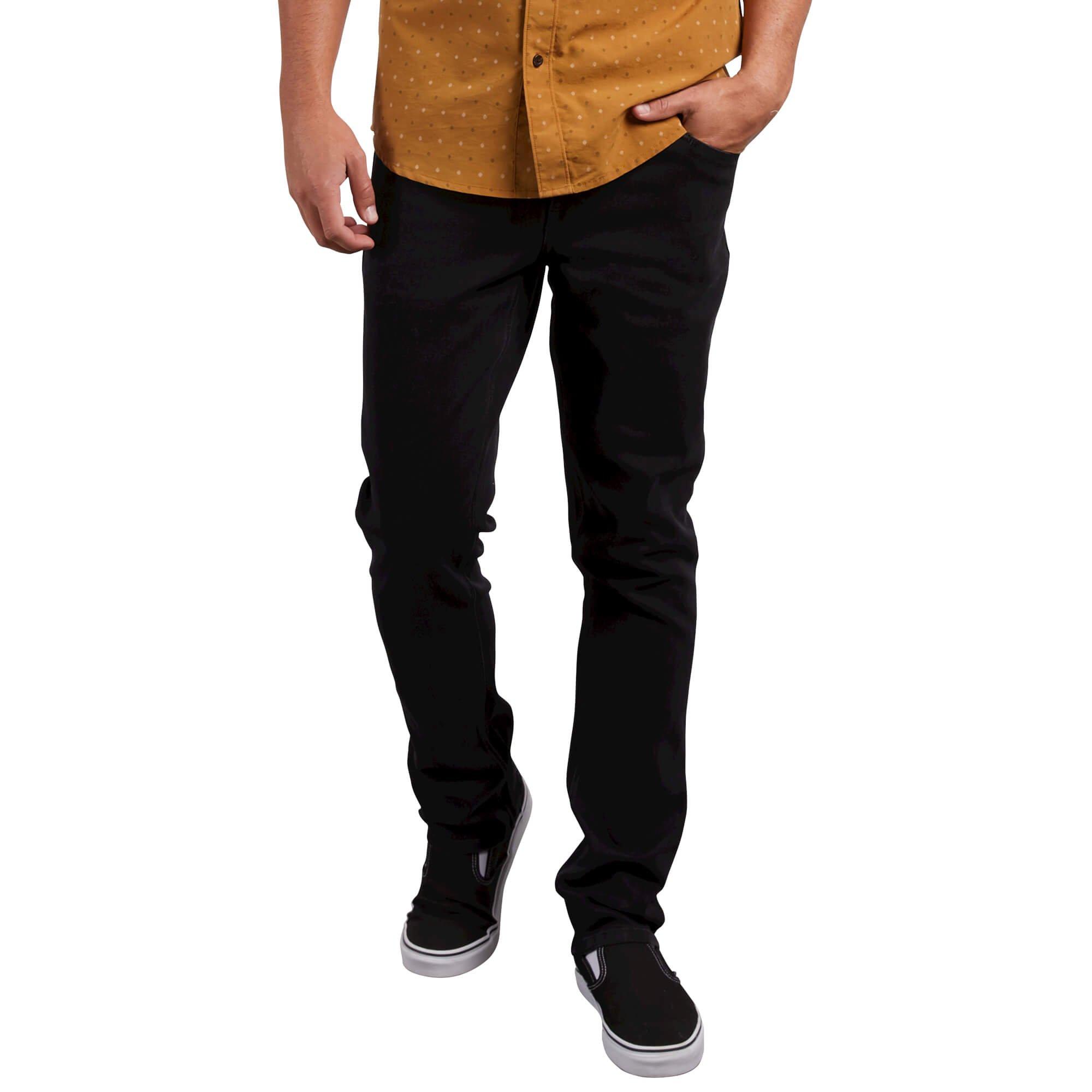 Volcom Men's Vorta Stretch Denim Jean, Blackout, 32X32
