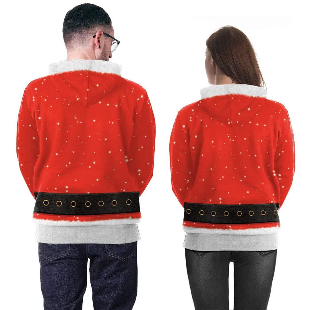Amazon.com: MAOMAO Funny 3D Hoodies Unisex Autumn Cosplay Santa Claus Xmas Hoodie Sweatshirts: Clothing