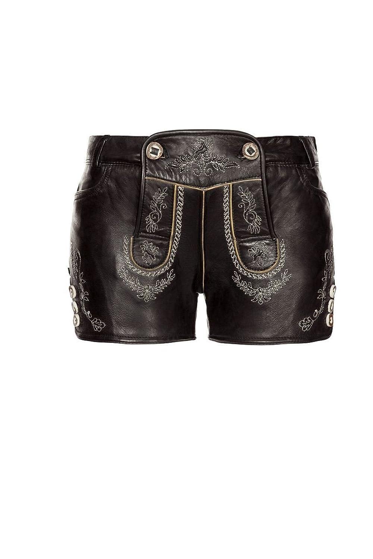 Stockerpoint - Damen Trachten Lederhose kurz Nappa, Mona