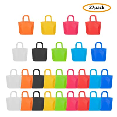 Party Favor Bags, 27 Pcs Non Woven Party Gift Bags with Handles, 10 x13 Inch, 9 Colors: Toys & Games