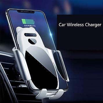 ZDGM Cargador Inalámbrico Coche, 10W Qi Cargador Wireless ...