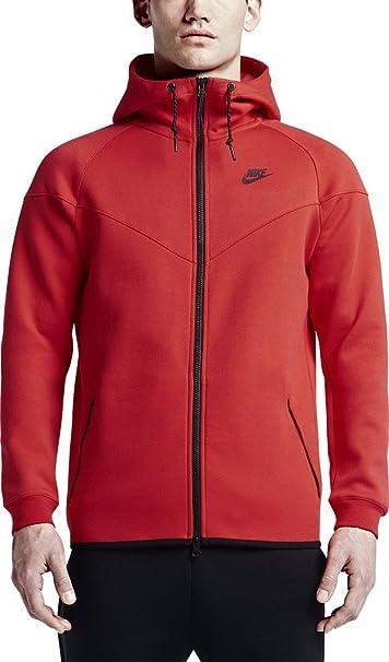 nike giacca a vento rossa