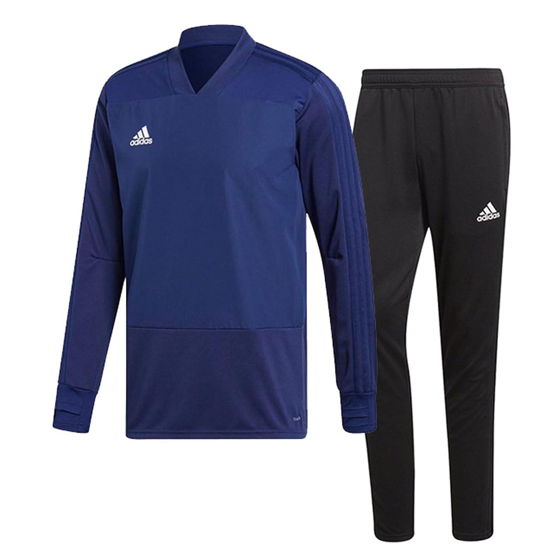 アディダス(adidas) CONDIVO18 トレーニングウエア 上下セット(ダークブルー/ブラック) DJV18-CG0386-DJU99-BS0526 B0798GWKBCダークブルー×ブラック 日本 J/S-(日本サイズS相当)