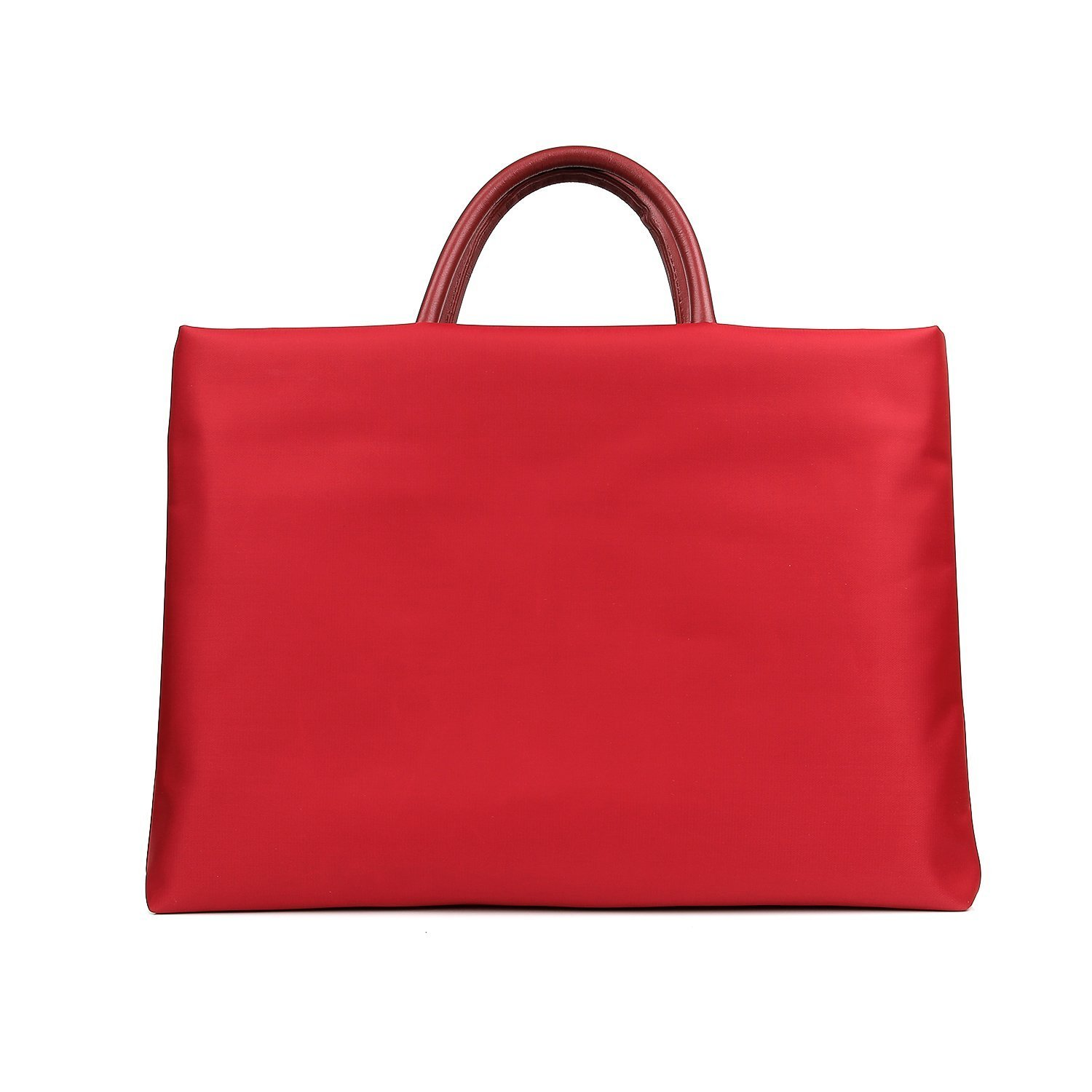 Women Laptop Tote Bag, Raydem Nylon Purse for Laptops under 15.6'' - Waterproof Laptop Handbag & Ideal Briefcase for Work Bussiness Travel (Red)