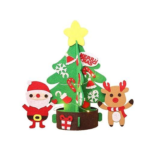 cactus christmas tree santa elk diy xmas kids children craft art patchwork decoration s