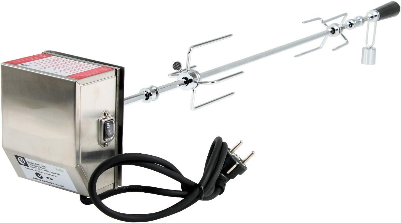 BBQ-Toro tourne broche electronique Kit pour grill I avec un 90 cm Moteur dans une bôitier en inox I barbecue, rôtisserie, rotissoire