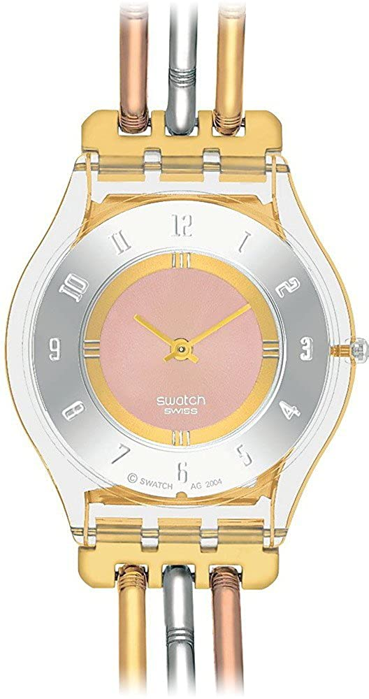 Amazon.com: Swatch Skin Tri-Gold Multicolored Dial Stainless Steel Ladies Watch SFK240A: Swatch: Watches