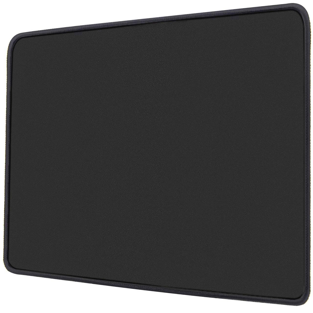 """Ktrio Gaming Mouse Pad with Stitched Edges Mousepad with Lycra Cloth, Non-Slip Rubber Base, Waterproof Coating Mouse Pad for Computer, Laptop, PC, Office & Home, 11"""" x 8.5"""", 3mm, Black"""