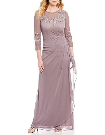9f2418f664f8 Alex Evenings Women s Long A Line Illusion Sweetheart Neck Dress (Petite  and Regular)
