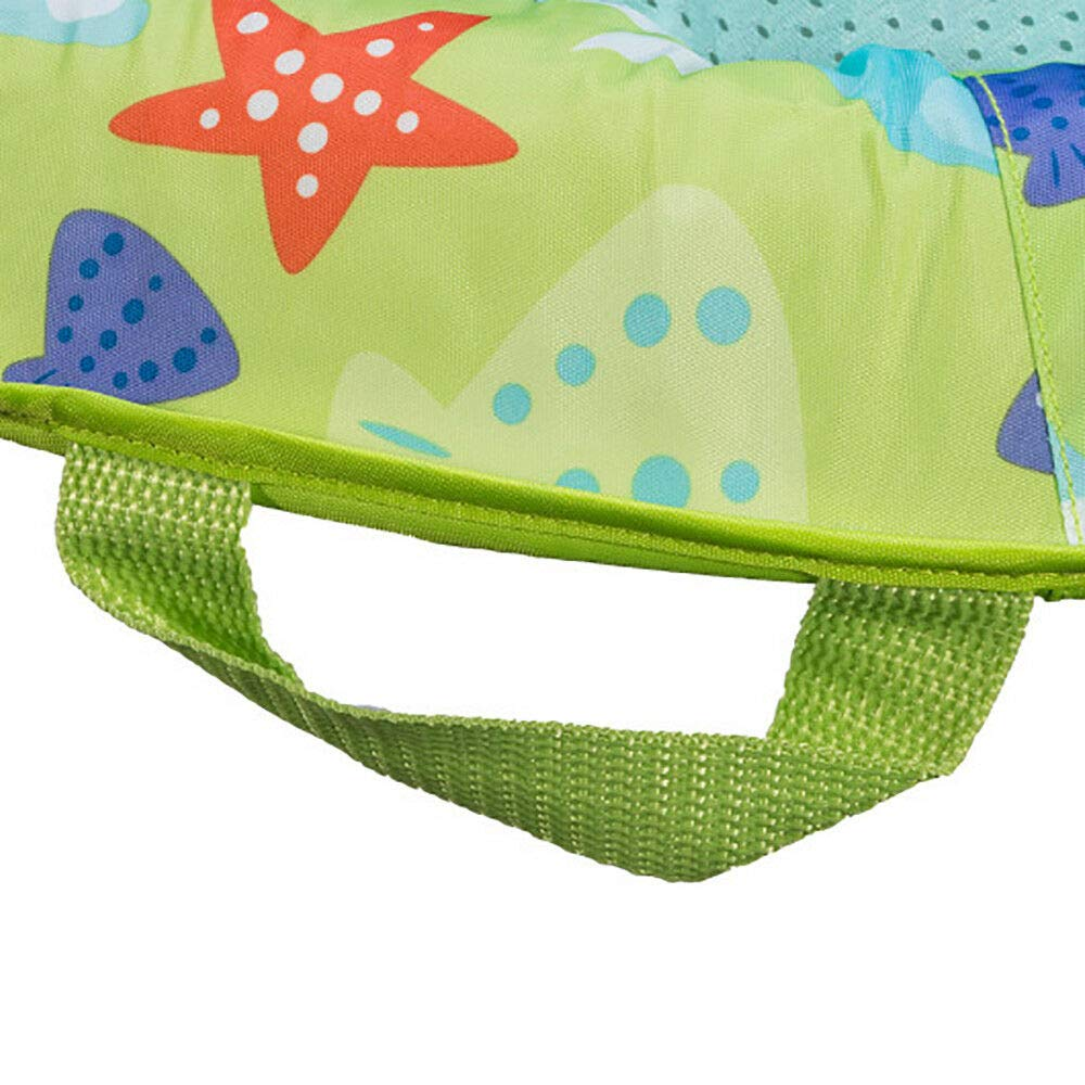MRT SUPPLY Fabric Infant Baby Spring Swimming Pool Float with Canopy (2 Pack) with Ebook