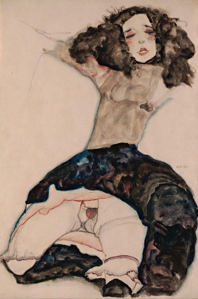 Egon Schiele Self-Portrait Giclee Canvas Print Paintings Poster Reproduction
