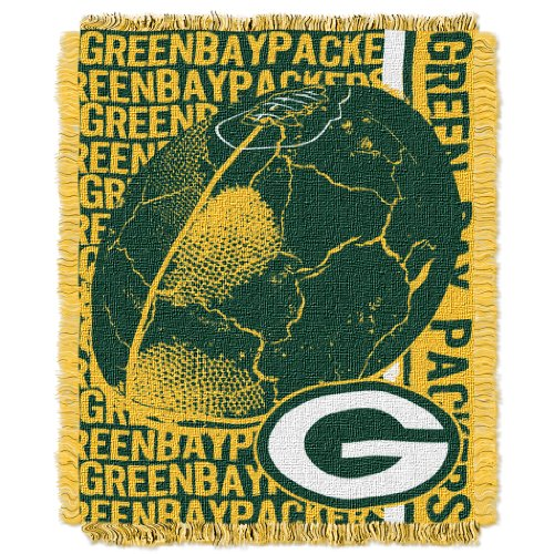 The Northwest Company Officially Licensed NFL Green Bay Packers Double Play Jacquard Throw Blanket, 48