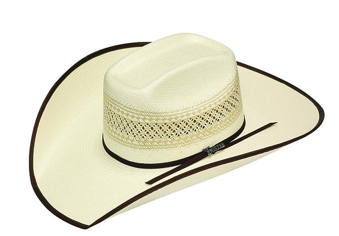 3afa7cf752b Twister Men s 10X Shantung Ribbon Bound Brim Straw Cowboy Hat - T73560 at Amazon  Men s Clothing store