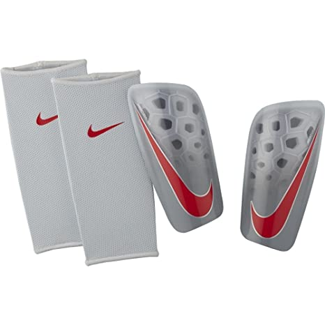 pretty nice f8935 3d62e Amazon.com   Nike Mercurial Lite Soccer Shin Guards (Pure Platinum Wolf  Grey Light Crimson) (Small)   Sports   Outdoors