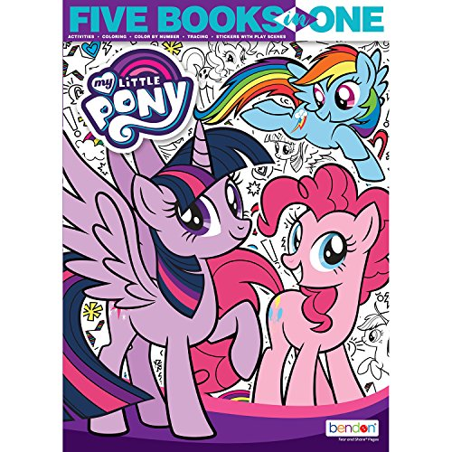 le Pony 176-Page 5-in-1 Coloring and Activity Book ()