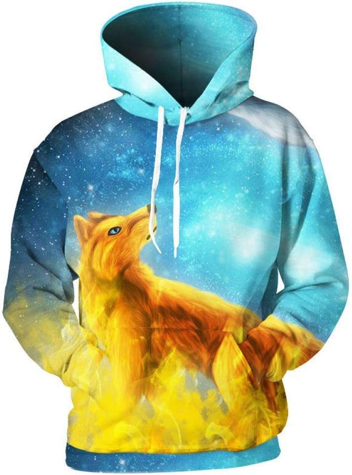 PU Frühling und Herbst 3D Hooded für Männer/Frauen 3D Print Hooded Sweatshirts Herren Fashion Hip Hop Sweatshirts 3D Pullover,** L ** L