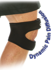Above and below the knee support disperses pain and provides immediate relief.