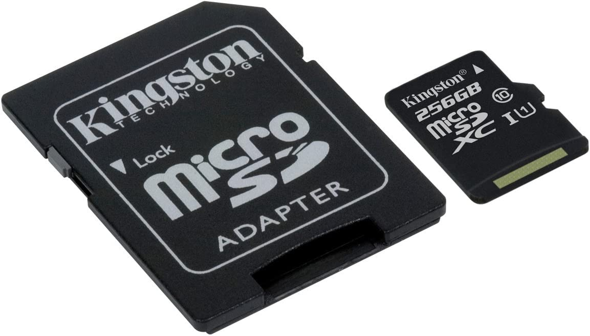 Kingston SDCS/256GB - MicroSD Canvas Select velocidades de UHS-I Clase 10 de hasta 80 MB/s Lectura (con Adaptador SD)