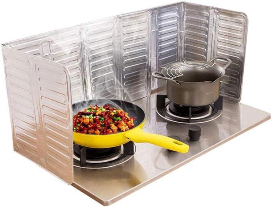 Aluminum Foil Kitchen Cooking Oil Splash Guard Gas Stove Burn Proof Board