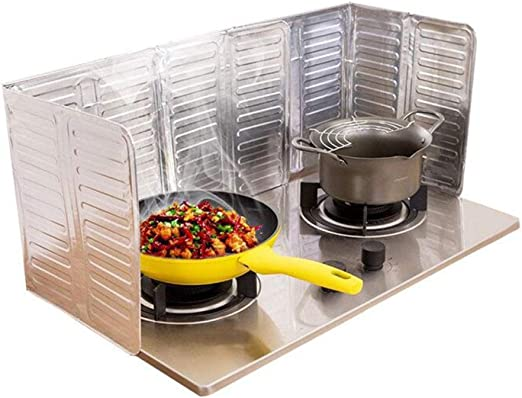 Cooking Screen Aluminum Foil Stove Cover Protection Anti Oil Splash Kitchen Tool