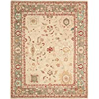 Safavieh Anatolia Collection AN511A Handmade Traditional Oriental Beige and Green Wool Area Rug (8 x 10)