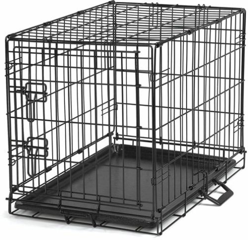 Proselect Easy Dog Crates for Dogs and Pets - Black; Large