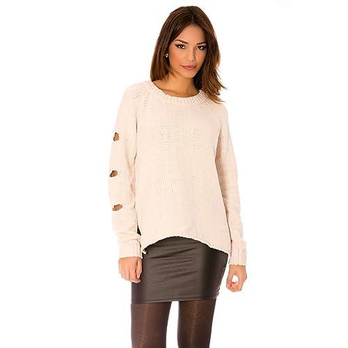 Miss Wear Line - Jerséi - para mujer blanco S