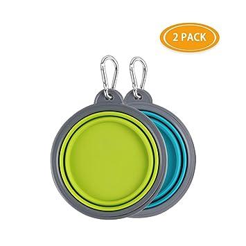Amazon.com: Hcupet Cuenco plegable para perro, silicona de ...