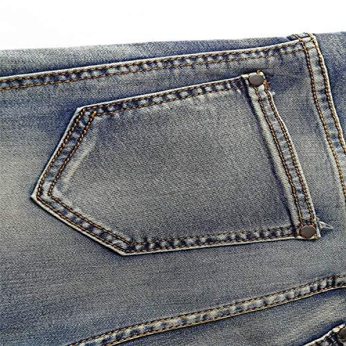 Morbidi Ragazzi Cotton Uomo Jeans Pantaloni Fashion Da Comodi Alti Fit Colour Classiche Dritti Elastici Slim Ssig 6wqFa6v