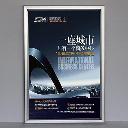 Compra Yakri Rápido marcos plateado marco de aluminio Clip Póster ...