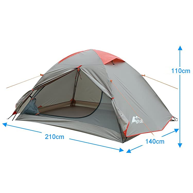 BFULL Camping Tent, Portable Folding Waterproof Outdoor Tent Hiking Climbing Dome Durable Camping 1-3 Person