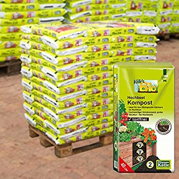 Kolle Bio Hochbeet Kompost 45 Sack A 40 L Palettenware Ohne