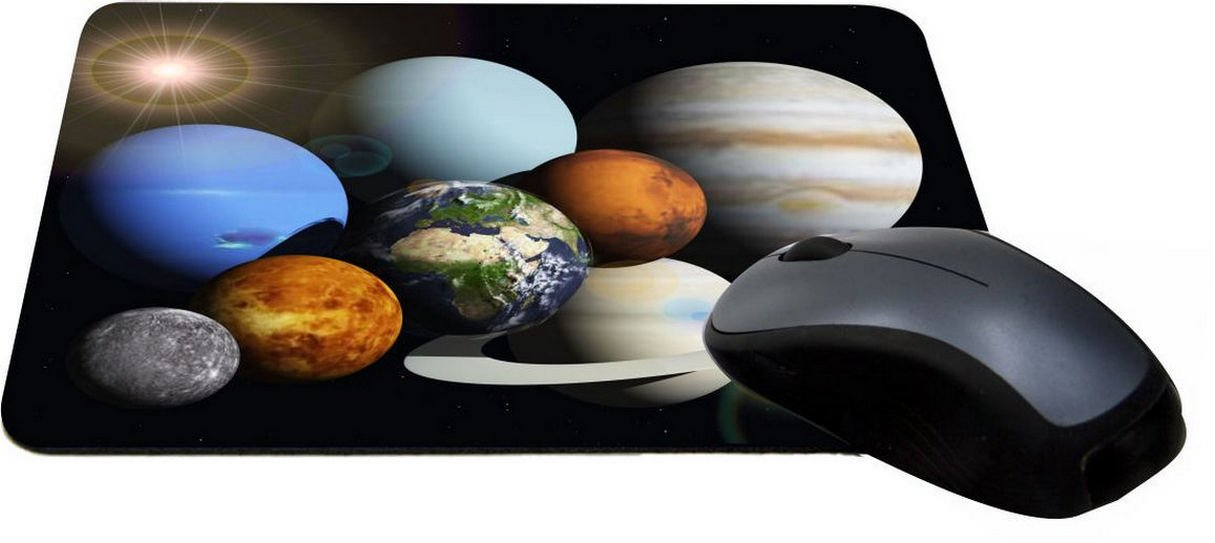 Rikki Knight Solar System Planets Lightning Series Gaming Mouse Pad