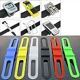 SODIAL (R) 2 Stueck Radfahren Fahrrad Silikon elastische Gummiband Bandage Krawatte Taschenlampe Halter