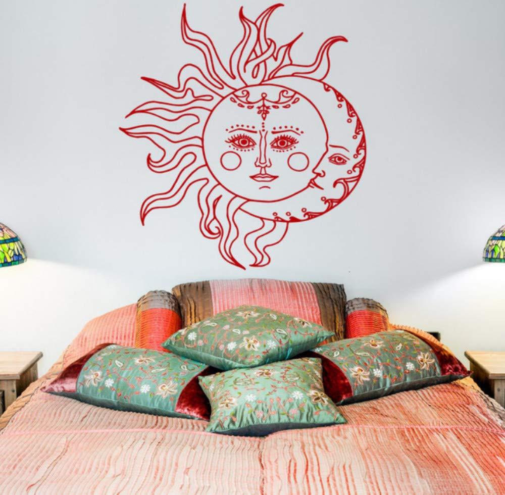 Etiqueta de la pared Sol y Luna Símbolo étnico Luna creciente ...