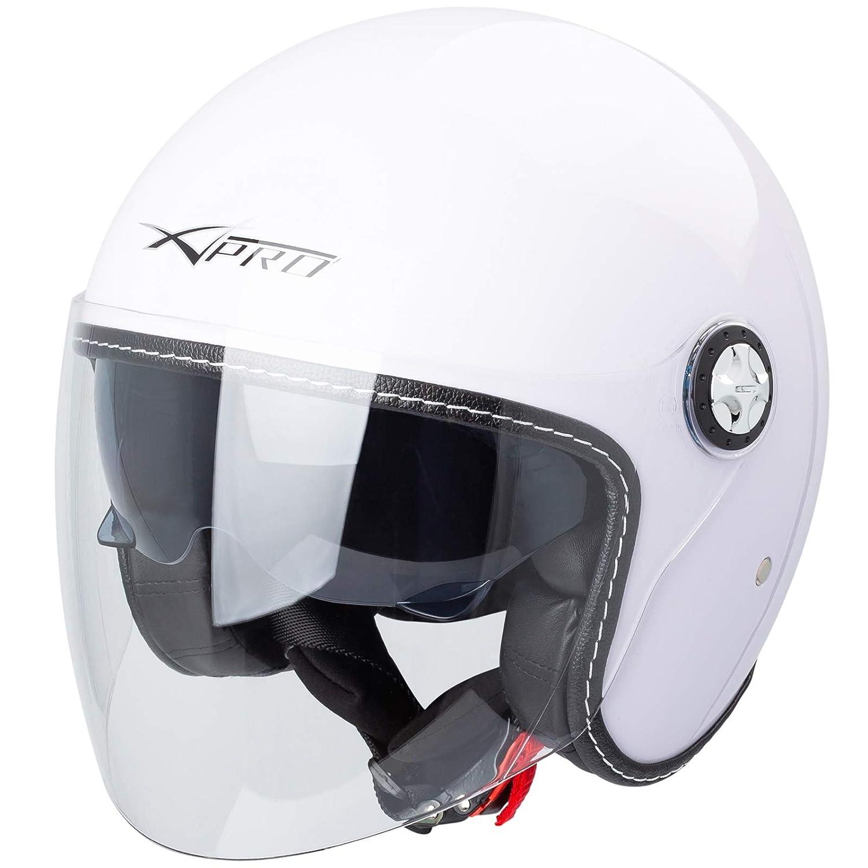 Casco Moto Jet City Omologato ECE 22-05 Doppia Visiera scooter Verde Opaco L