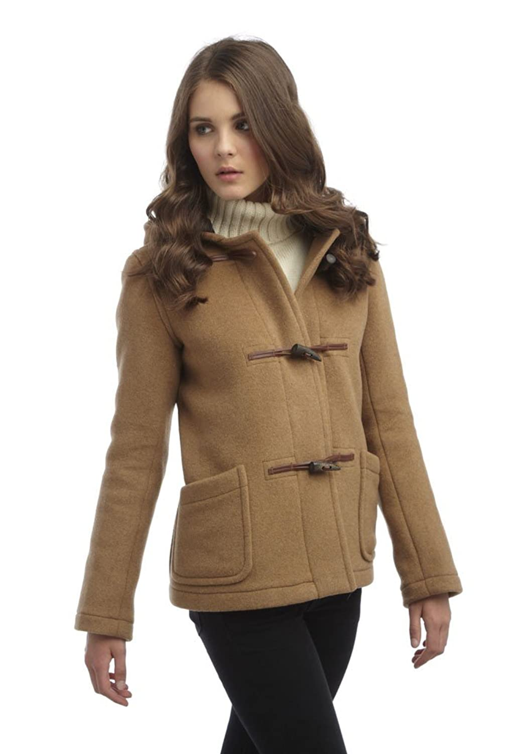 Womens Short Duffle Coat -- Camel: Amazon.co.uk: Clothing