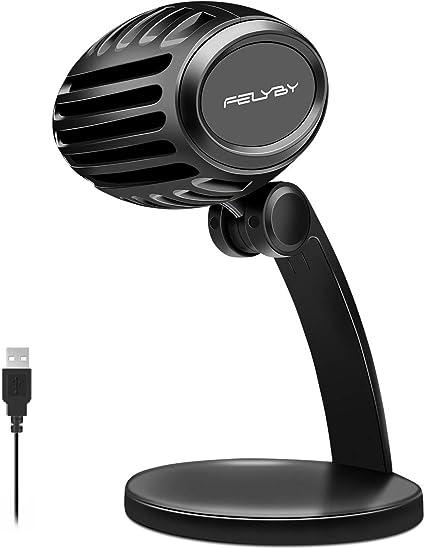 Amazon.com: Micrófono de grabación de estudio USB, FELYBY ...