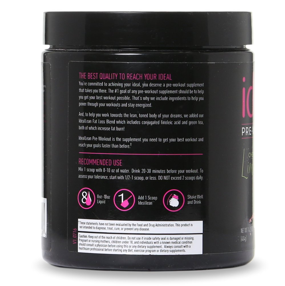 IdealLean, Best Pre Workout For Women - Energy Boost, Increase Training Intensity, Mental Focus, Results, Beta-Alanine, Low Calorie & Healthy, 30 - Servings (Cherry Limeade) by IdealFit (Image #5)