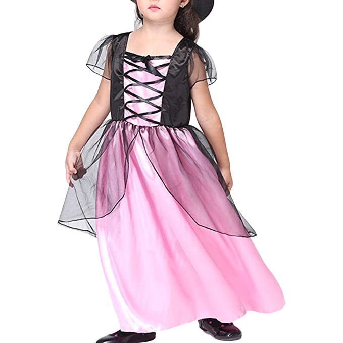 Amazon.com: Zhuhaitf Girl Halloween Christmas Witch Costumes Party ...