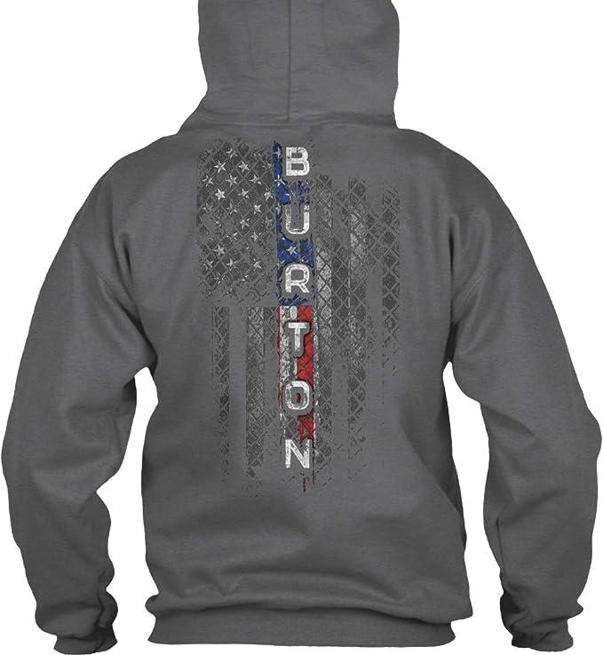 Burton Family American Flag Sweatshirt - Gildan 8oz Heavy Blend Hoodie