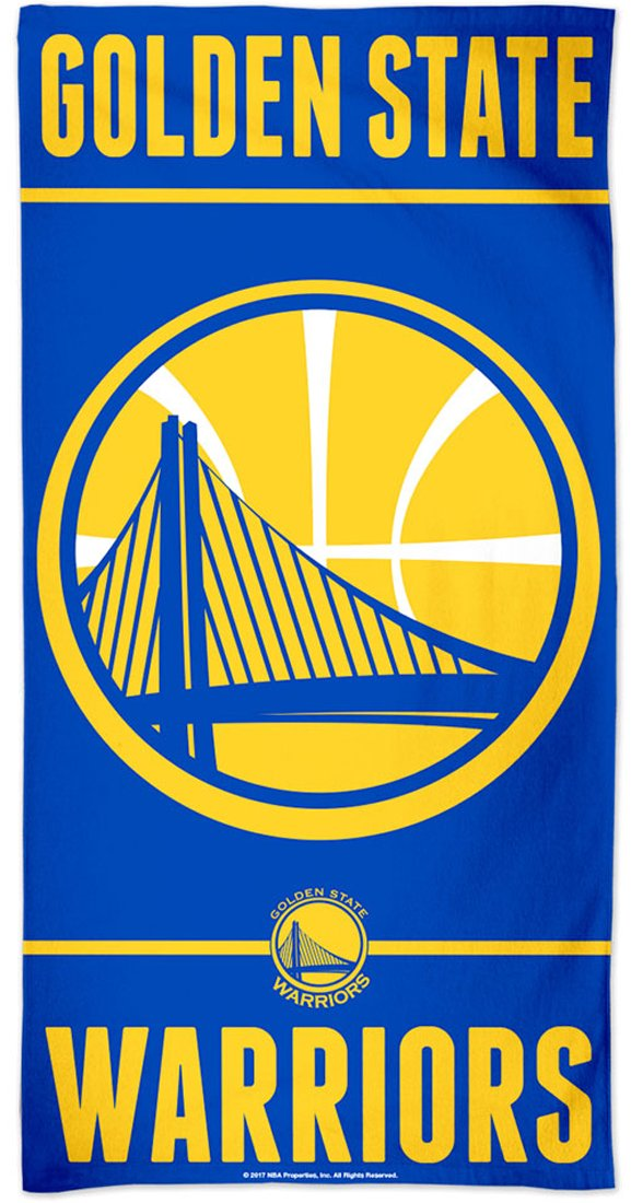 WinCraft NBA Golden State Warriors Fiber Beach Towel, 30x60 inches by WinCraft