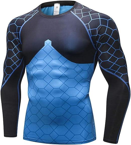 Capas para Hombre de Base Tops For Hombre de natación Camisas de Manga Larga Protección Solar