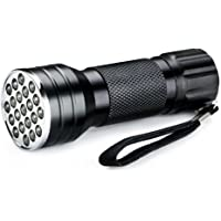 Luz Ultravioleta Linterna, Luz Negra LED Linterna UV Flashlight , Detector Billetes ,Caza Escorpión [Clase de eficiencia…