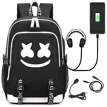 Hzl Marshmello DJ Mochila Portátil Hombre Puerto USB Trabajo Ordenador Viaje Negocio Multifuncional Daypacks Negro,Black: Amazon.es: Bricolaje y ...