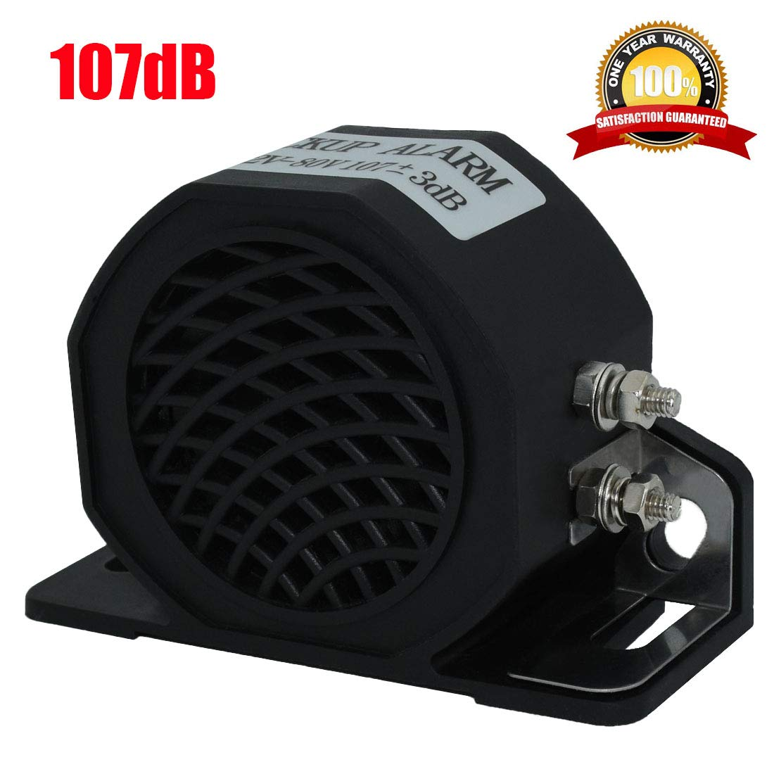 MIRKOO Car Back-up Alarm 107dB 12V-80V DC Waterproof Industrial Heavy-Duty Backup Reverse Warning Alarm with Super Loud Beeper Tone for Truck Van Freight Car Lorry Heavy Vehicles