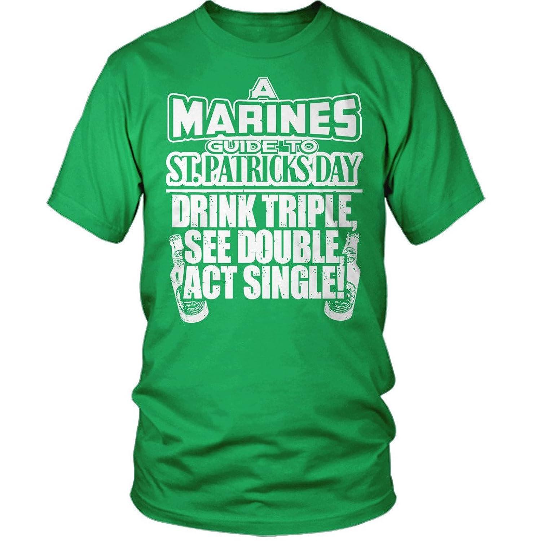 Marines Guide Paddys Marines St Patricks Day T-Shirt