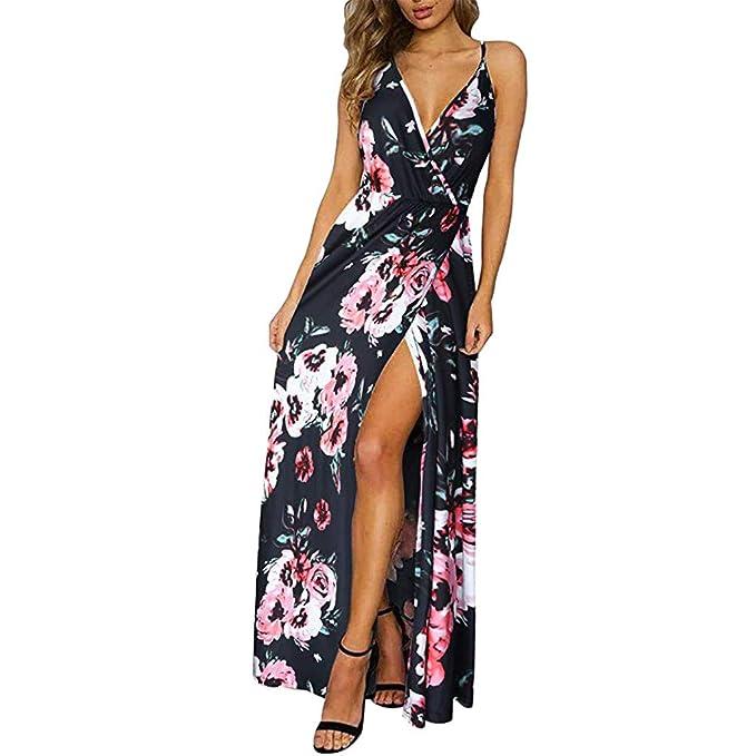 Modaworld Vestidos de Fiesta Mujer Vestido sin Espalda de ...