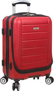 Dejuno Compact Hardside 20-inch Carry-on Luggage With Laptop Pocket, Red