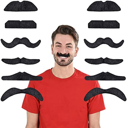 Scoundrel Adult Mustache And Beard Mens Fake Hair Accessory